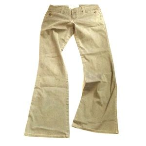 ❤️Plugg Flared Jeans Olive Drab/Pink 7